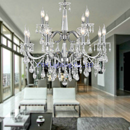 Free Shipping Modern Crystal Chandelier For Living Room High Ceiling  110 240V Is Available Shipped In 48 Hours Modern Chandeliers For High  Ceilings Outlet