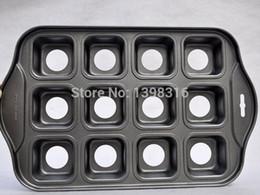 Canada Gros-Livraison gratuite carré en forme de 12 mini cheesecake pan Offre