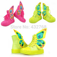 Wholesale Bling Bow Flats - Wholesale-Free Shipping Butterfly Wing Antiskid Colourful Warm Cotton Kids Boys Grils Toddler Bling Bow Sneaker Candy Soft Flat Shoes