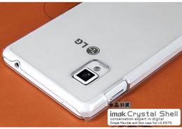 Wholesale E975 Case - Wholesale-Free Shipping Original IMAK Ultra Slim Transparent Clear Back Cover Case For LG Optimus G E975 E973 E977 & Retail Package