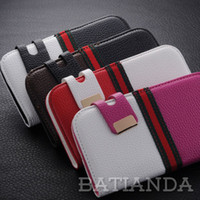 Wholesale Samsunggalaxy Flip Cases - Wholesale-Free shipping card slot soft PU Leather flip wallet samsunggalaxy s4 pouch cover luxury smart Case for samsung galaxy i9500