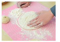 Wholesale Silicone Mat Chopping Board - Wholesale-YoHere kitchen tools 1 piece dough pad chopping board table silicone pad thicken drawing slip-resistant 50*40cm baking mat