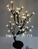 Wholesale Cherry Led Lamp - LED crystal cherry blossom tree Christmas new year wedding Luminaria decorative Night lights tree branches lamps indoor lighting