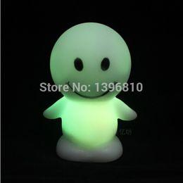 Wholesale Smiling Faces Lamps - 10pcs Hot Sale Night Lights Color Change Face Smile LED Lamp Baby Kids Room Lamps Home Decoration Creative Items Flash Toy CM013