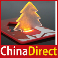 Wholesale Cheapest Price Christmas Lights - Cheapest [ChinaDirect] Folding Pocket LED Card Light Lamp Bulb Christmas Tree Better Price More benefit