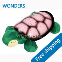 Wholesale Sea Turtle Night - 3 Colors 4 Musical Novelty items USB Sea Turtle Night Light star projector master Constellation Lamp With Color Box Plush Animal