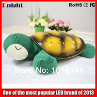Wholesale Sea Turtle Night - large size LED tortoise Night Light with usb cable,sea tortoise musical Projector Baby turtle Toy lamp gift for kids night light