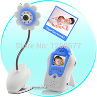 blue baba - New Flower camera wireless baby monitor fetal doppler inch LCD Pink and Blue IR Nightvision baba eletronica video babysitter