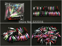 20pcs mix lot gros Piercing Bijoux 8mm conception différente Faux Ear cierges Boucles Expander Illusion Stretchers