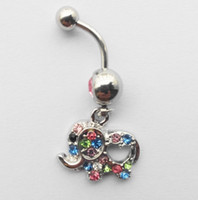 Mignon Bijoux Elephant Or Body Piercing Nombril Nombril Anneaux Percing Pircing Belly Ring