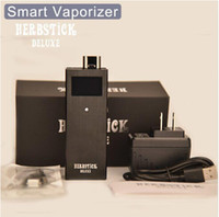 Wholesale Electronic Cigarette Deluxe - Wholesale-2015 new arrive KY02 herbstick deluxe Smart OLED Digital dry herb Vaporizer Temperature Control electronic cigarette box mod