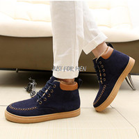 Wholesale Thermal Ankle Support - Ankle Boots Male Boots Men Boots,Leather Plus Size Cotton Thermal Skateboarding Shoes Support Alipay And Other Pay Method