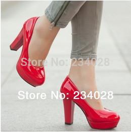 Discount hot sexy pvc dresses - 2015 New Women's High-heeled Pumps Shoes Women's PU Leather Sexy High Platform Thin Heels Princess Shoes HOT SAL