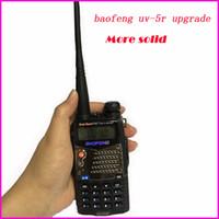 vhf walkie al por mayor-Nueva charla de paseo Pofung Baofeng UV-5RA para Walkie Talkies Escáner Radio Vhf Uhf Banda dual Cb Radio-transmisor-receptor 136-174