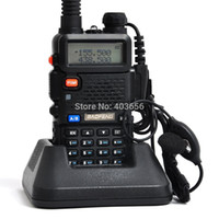 Wholesale Dual Walkie - 10pcs lot Original BaoFeng UV5R 2 Way Radio 136-174 400-520MHz Dual-Band DTMF Walkie Talkie Handhold Tranceiver