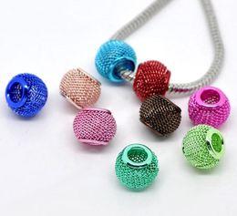100pcs Mesh Spacer Beads Fit Bracciale Charm 12x10mm da