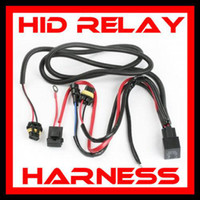 Wholesale H13 Hid Harness - 20PCS USA UK!!! H1 H3 H13 880 881 HID XENON CONVERSION KITS RELAY WIRE WIRING HARNESS 40A NO FLICKER