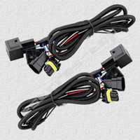 Wholesale Kit Xenon Usa - 20PCS USA UK!!! GOOD 9005 9006 HID XENON CONVERSION KITS RELAY WIRE WIRING HARNESS 40A NO FLICKER=