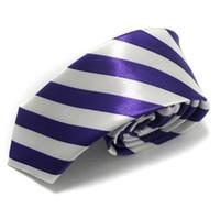 Wholesale Mixed Skinny Ties - slim tie men's necktie skinny ties terylene men's ties fashion tie 100pcs lot designs mixed