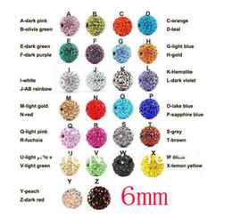 Wholesale Shamballa Clay Pave Beads - Free Shipping 100pcs Lose Money Sale Mixed Shamballa Beads 6mm AB Clay Crystal Shamballa Disco Pave Crysta Balls(w03066)