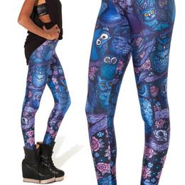 Wholesale Fitness Owl - Women Legging Trousers Black Milk Midnight Owl Leggings Printed Womens Leggins 2015 Fitness Clothing For Women Plus Size Xs-Xl