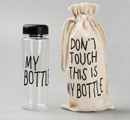 Wholesale Plastic Sack Bags - Wholesale-My Bottle With Sack Bag Fashion Water Bottles Sport Readily Tea Cup 500 ML TRITAN BPA FREE LEAK-PROOF