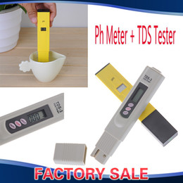 Wholesale Digital Ph Meter Tester Pool - Digital PH Meter + TDS Tester Hydroponic Water Monitor 0-9999 PPM For Aquarium, Fishing Industry, Swimming Pools, Laboratories