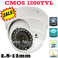 Wholesale Dome Security Camera Digital Zoom - Best selling 1200TVL vari focal zoom lens indoor dome camera vandal proof security surveillance digital video cctv camera IR CUT