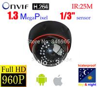 Wholesale Ip Dome Camera Price - Best Price! ONVIF 960P IP Camera Dome IR Night Vision Network 1.3MP HD CCTV Camera P2P nvr for ip camera Free Shipping