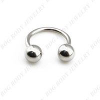 Wholesale Circular Barbell Lip - BOG-Surgical Steel Horseshoe Bar - Lip Nose Septum Ear Ring Circular Barbells Various Sizes available 14g-40pcs lot