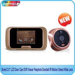 "Wholesale Dvr Camera Lcd Peephole - Free Shipping!!Brand 2.8"" LCD Door Camera DVR Viewer Peephole Doorbell IR Motion Detect Wide Lens"