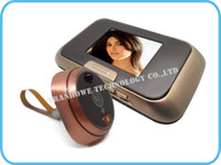 """Wholesale Peephole Viewer Dvr - Free Shipping!!Brand 2.8"""" LCD Door Camera DVR Viewer Peephole Doorbell IR Motion Detect Wide Lens"""