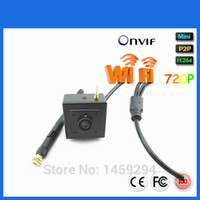 Wholesale Wifi Camera Ftp - Hidden Miniature HD IP camera Wireless WiFi IP Camera 720P 1MP Square Shaped With Icloud P2P FTP Motion Detection Privacy Mask