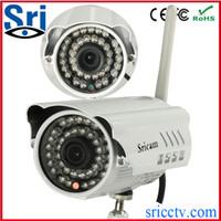 Wholesale Wireless Outdoor Security Web Camera - New Wireless IP Network Camera Outdoor Security WIFI Webcam CCTV Camera Built in IR Cut P2P Night Vision IR Web cam AP009