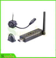 Wholesale Wireless Video Camera Usb Receiver - Hot Sale,Free Shipping mini Wireless USB DVR receiver + mini Video Camera