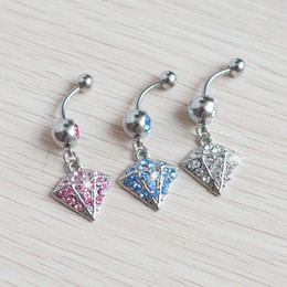Wholesale Cone Shaped Rings - hot sale cone-shape belly button ring body jewelry JF14-354 discount ear piercing gauges spike