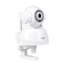 Wholesale Security Camera Tenvis - Free Shipping Tenvis TR3828 0.3 mega two way audio pan tilt control p2p home security wifi ip camera baby monitor free app