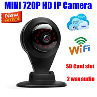 Caméra de surveillance de sécurité surveillance wifi vidéo sans fil mini caméra IP 1MP HD 720P IR Night Network SD / Micro / TF fente audio
