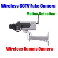 Wholesale Dummy Security Surveillance Camera - 2pcs lot Wireless CCTV Home Fake Dummy Decoy IP Camera Surveillance Security 0-360 L R rotation Motion Detection