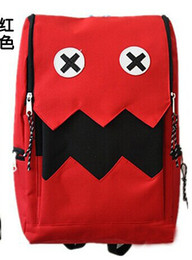 Wholesale Travel Backpack Cooler - New students unisex satchel Cartoon backpacks college interesting cute teeth wave of cool travel backbag