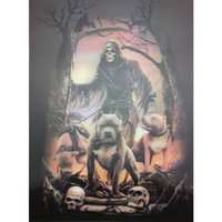 Wholesale 3d Pictures Wall Art - Skull and Dog 3D Lenticular Picture Poster Painting Wall Decor Photo Art Image