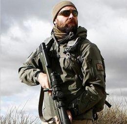 Wholesale Acu Xxl - TAD Men's Outdoor Hunting Camping Waterproof softshell Coats Jacket Hoodie Black   Green   Desert   Brown   ACU   CP S - XXL