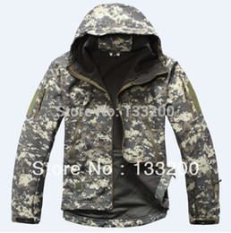 Wholesale Acu Xxl - TAD ACU Camo Outdoor Military Tactical Waterproof Zipper Windbreaker Fleece Jacket