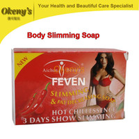 Wholesale Anti Cellulite Soap - hot chili effective body slimming soap 100g, skin wthienting, anti cellulite, full body weight loss slimming products