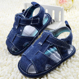 Wholesale Baby Boys Shoes Wholesale - Classic Dark Blue Baby Boys Girl Summer Sandal Shoes Baby Shoes Toddler Shoes Dropshipping Freeshipping