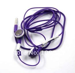 2019 3gs mic Auriculares con micrófono y control de volumen para Iphone 4G 3GS Purple rebajas 3gs mic