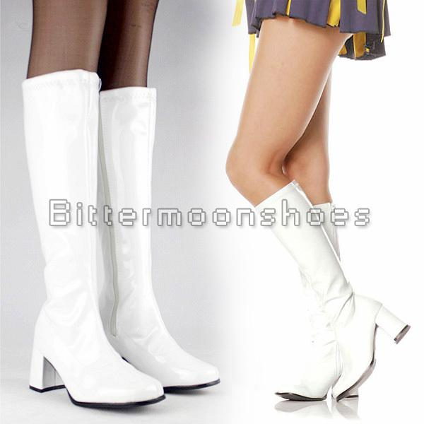 white 60s boots