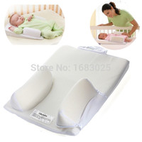 Wholesale Baby Beans Pillow - Wholesale-Baby Infant Newborn Anti Roll Pillow Ultimate Sleep Positioner System Prevent Flat Head Cushion