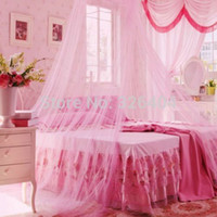 Gros-Princess Round Canopy Lace Curtain Dome Bed Netting Mosquito Net Gauze