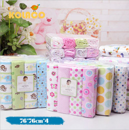 Wholesale Boys Crib Bedding Set - Wholesale-4 pieces  lot baby bedding set 100% cotton baby bed sheet toddler's crib bedding set 76x76cm cot boy girl blanket